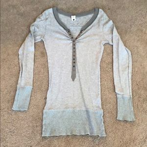 Free people thermo long sleeve gray sz M